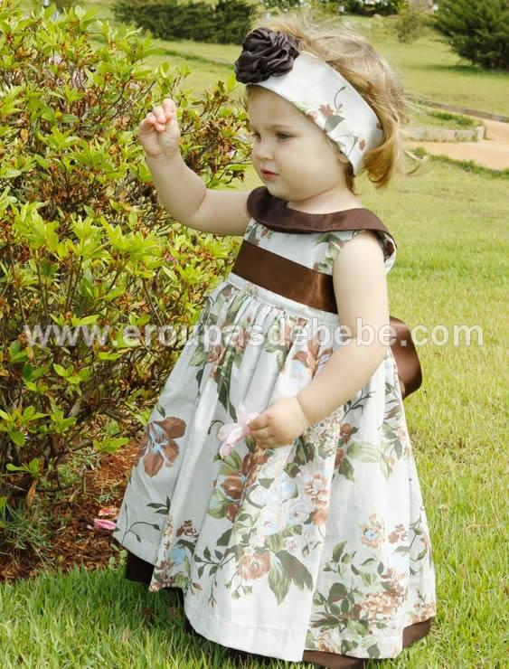 vestido floral para bebe
