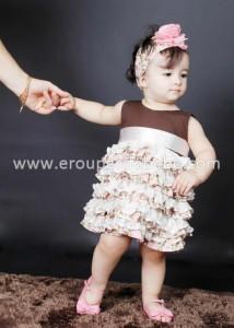 Vestido de festa para criança de seis meses