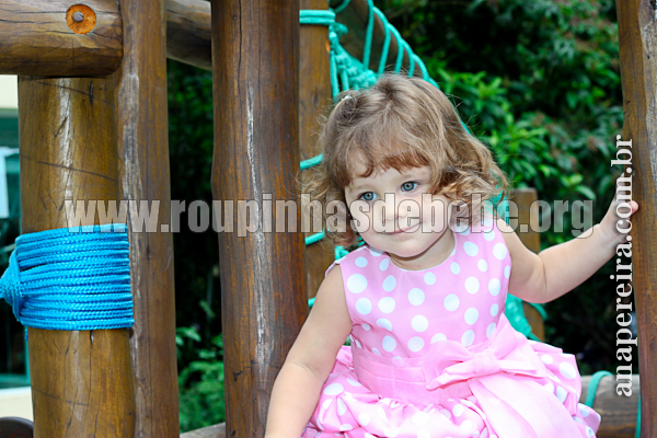 vestido infantil de festa tafeta
