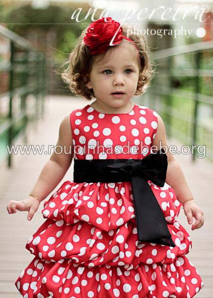 vestido vermelho de criança para festa