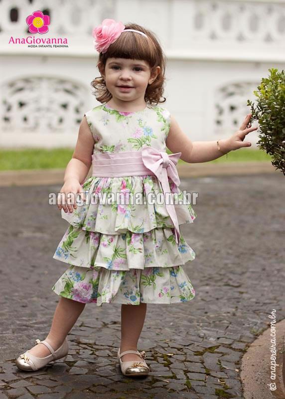 vestidos de tricoline infantil