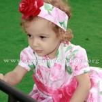 vestido para criança floral rosa