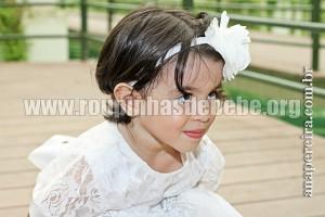 vestidos branco para bebe