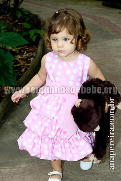 vestido infantil minnie de festa