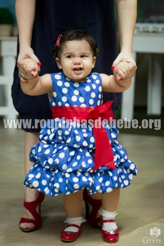 Vestido para criança de 1 ano