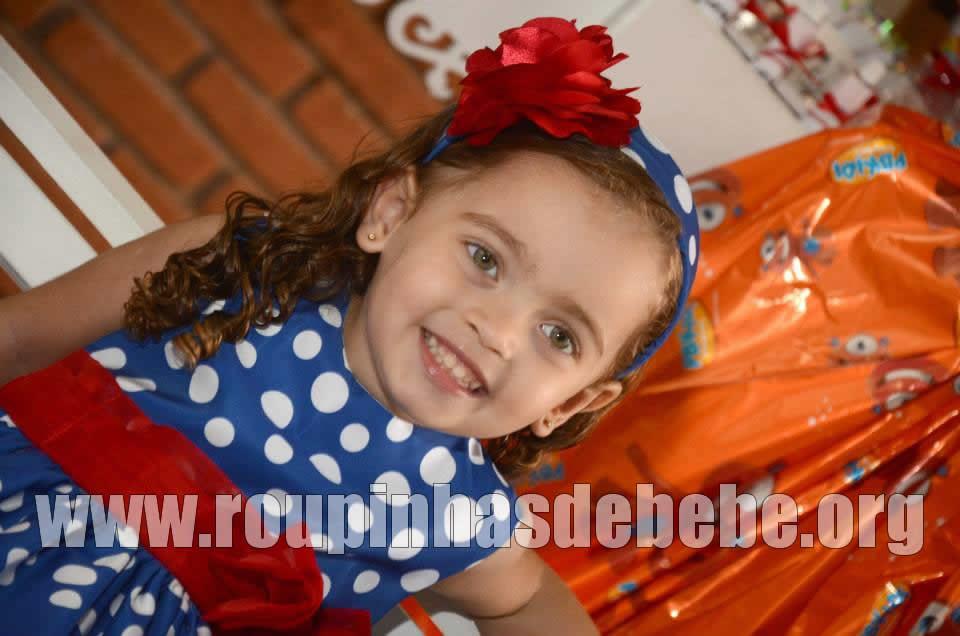 vestido para festa infantil 1 ano