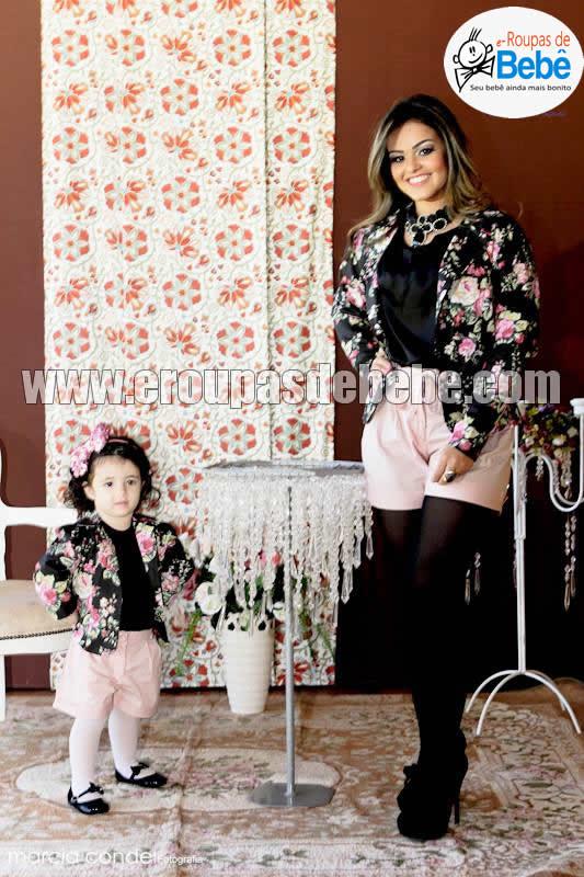 vestidos floral infantil preto