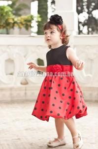 vestido infantil da joaninha para festa