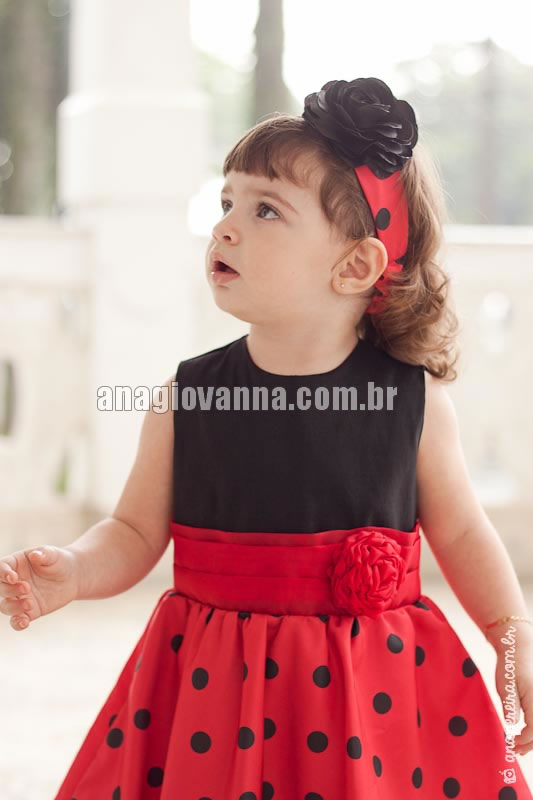 vestido de festa infantil da joaninha