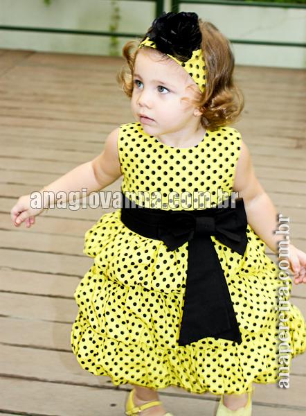 vestido de festa da abelhinha