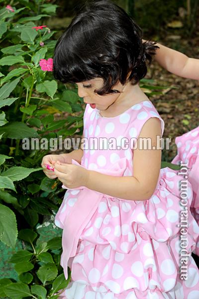 vestido minnie rosa infantil