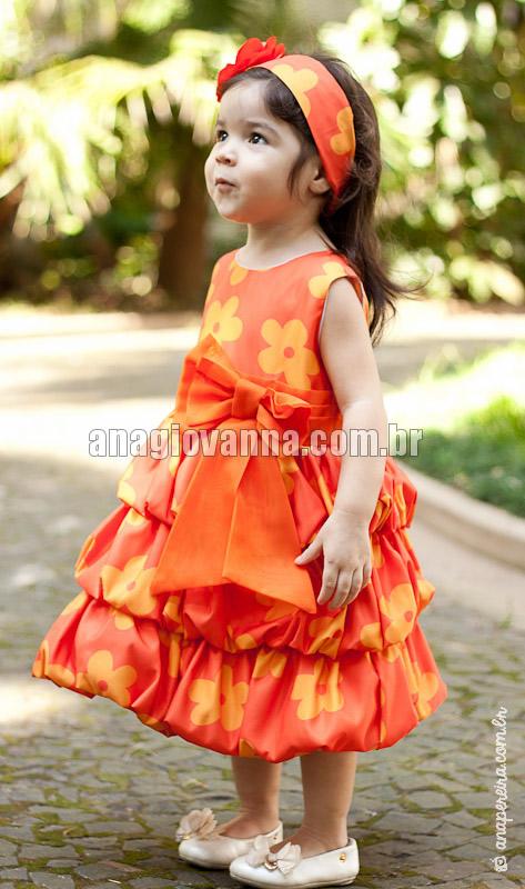 vestido de festa para bebe da tasha