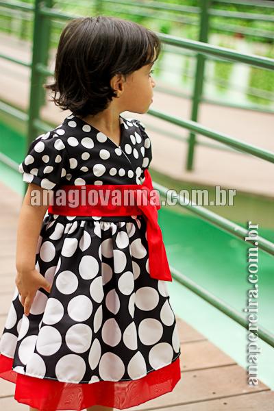 vestido minnie mouse infantil