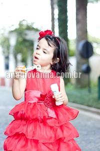 vestido infantil barbie