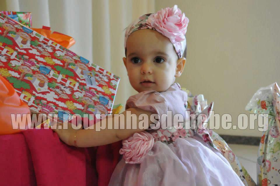 vestido festa para bebe