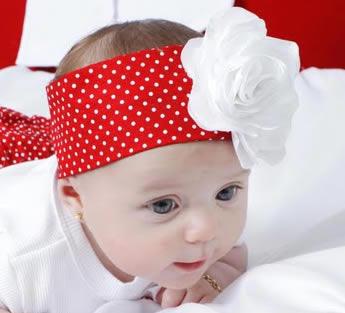 Faixa de cabelo com flor para bebe