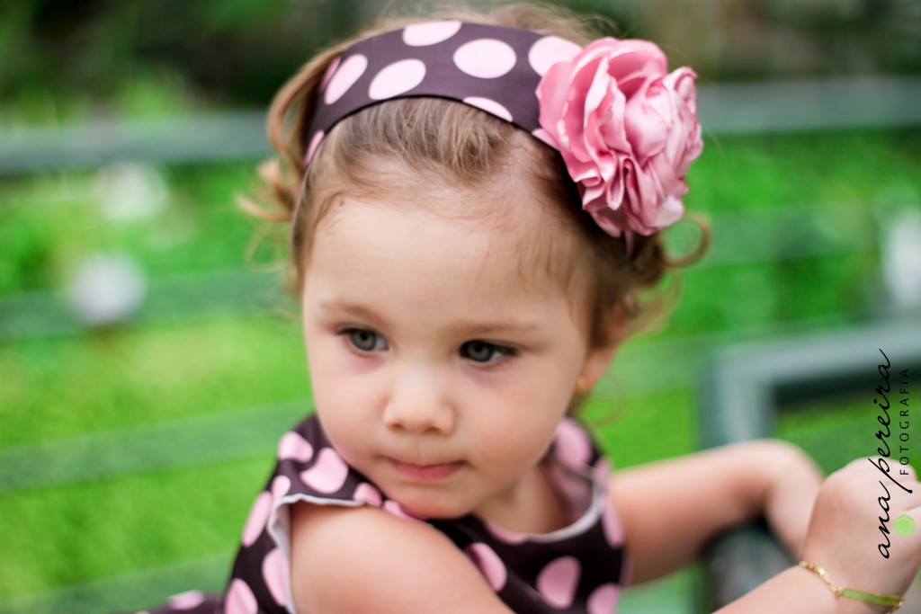 Vestido infantil marrom e rosa para bebê
