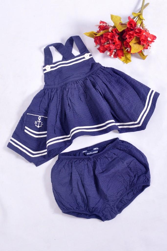 Conjunto marinheira infantil azul marinho