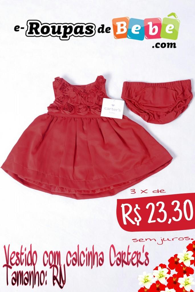 Vestido vermelho Carters
