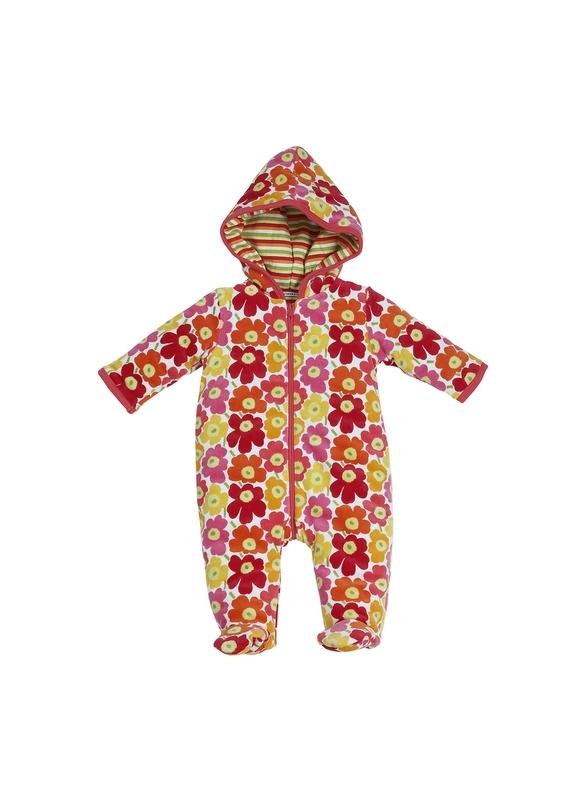 Macacão luxo forrado com capuz e pezinho baby-garden RN girl