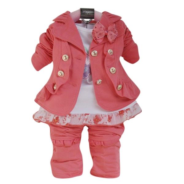 Conjunto infantil feminino rosa