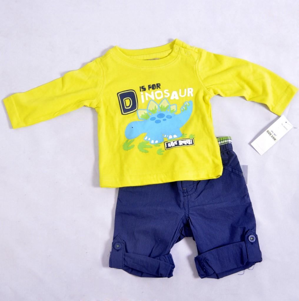 Conjunto infantil masculino amarelo e azul