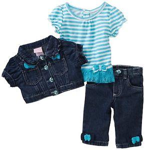 Conjunto jeans 3 Pecas girl 2T-nannette