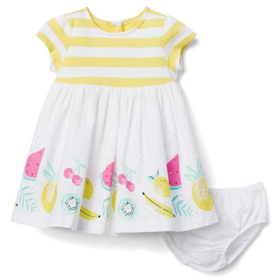 Vestido de festa para bebês de 1 mês