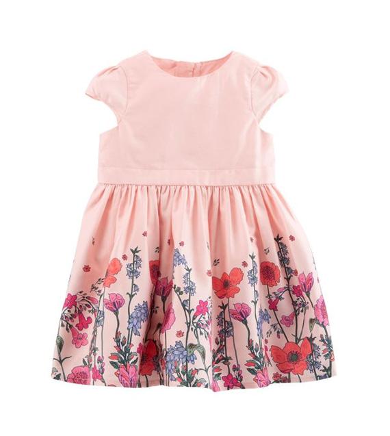 Vestido de bebê floral para festa