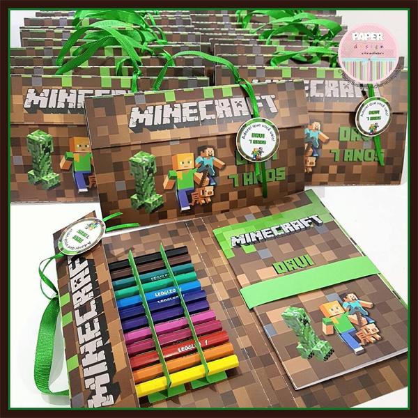 ideias de lembrancinhas minecraft