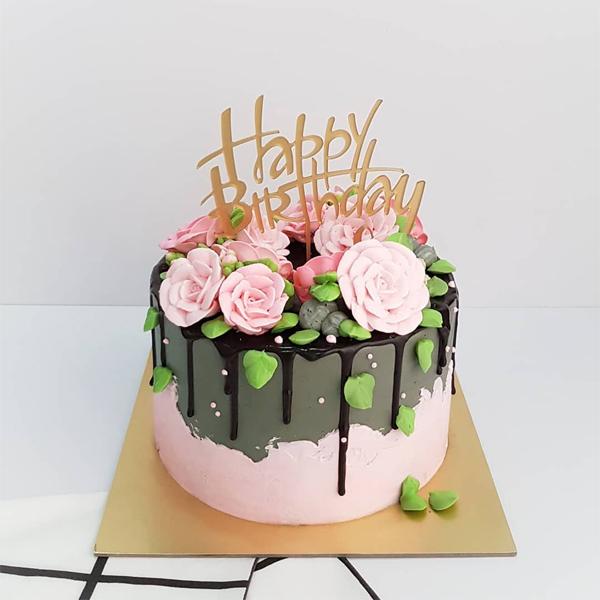 Ideias de bolo com flores